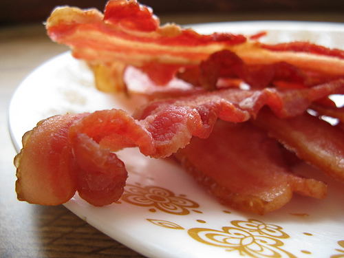 Mmmmm. Delicious, delicious bacon. Aubrey OWho, Now?