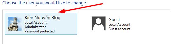 Create password windows 8