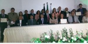 Prefeita, vice-prefeito, vereadores e suplentes diplomados