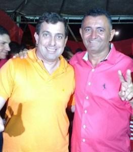 Deputado Estadual Gervásio Maia (PSB) e o Prefeito Egberto Madruga (PTB)