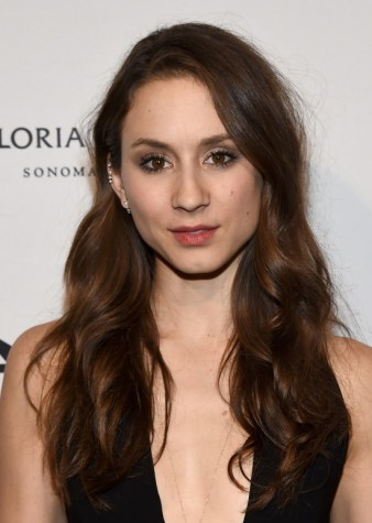 HOLLYWOOD, CA - OCTOBER 29: Actress Troian Bellisario attends the after party for amfAR Inspiration Los Angeles 2014 at STK on October 29, 2014 in Hollywood, California. (Photo by Michael Buckner/Getty Images for amfAR)