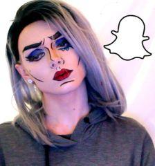 crying-pop-art-tears-snapchat-makeup