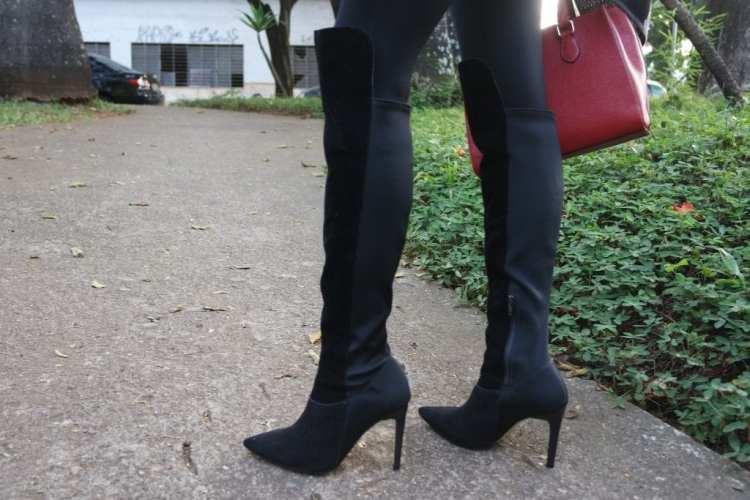 bota over the knee preta blog da ana