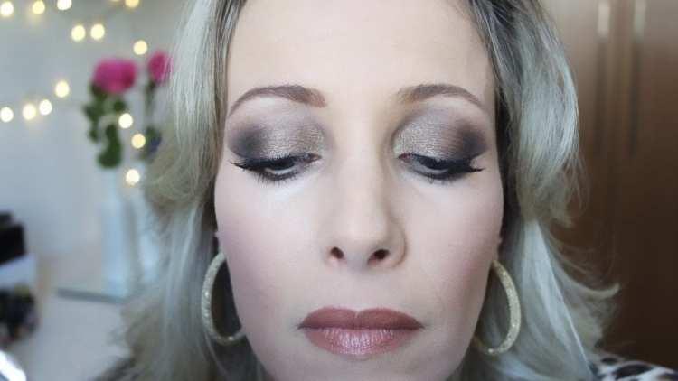 maquiagem make bronze marrom dourado delineado