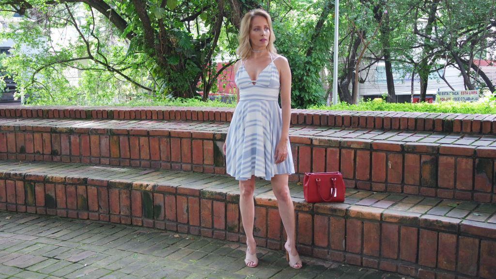 vestido listras e mule blog da ana