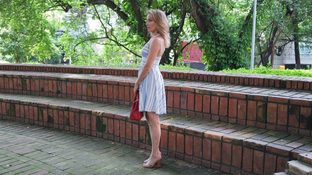 vestido listras mule nude barra assimétrica blog da ana.