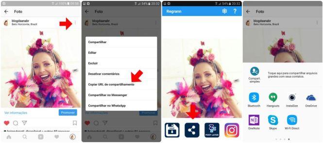 como repostar regrann instagram compartilhar app blog da ana