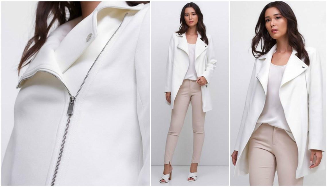 casaco alongado branco renner blog da ana