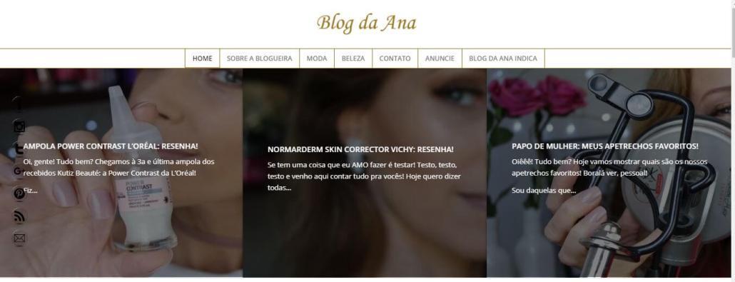 blog da ana de cara nova