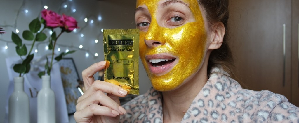 golden máscara facial 24K avenca sachê blog da ana