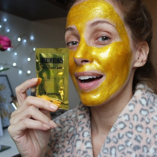 golden máscara facial 24K avenca sachê blog da ana