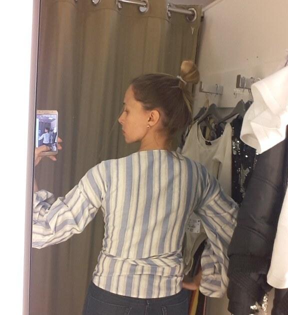 lançamento renner blusa listrada provador blog da ana