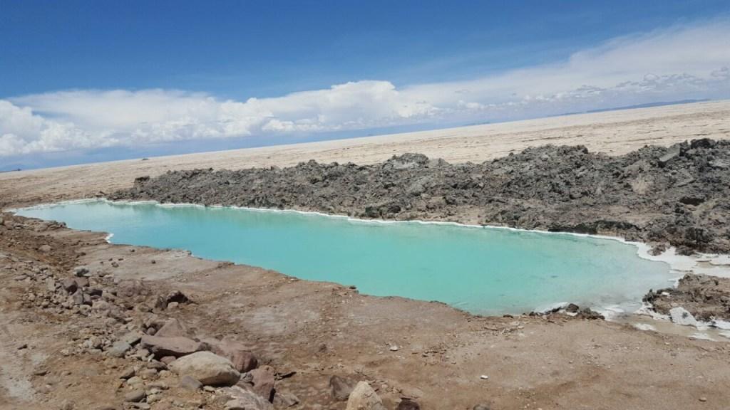 piscinas de Sal. De carro para o Salar do Uyuni e Atacama