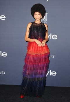 LOS ANGELES, CA - OCTOBER 23: Actress Zendaya arrives at the 3rd Annual InStyle Awards at The Getty Center on October 23, 2017 in Los Angeles, California. (Photo by Jon Kopaloff/FilmMagic)