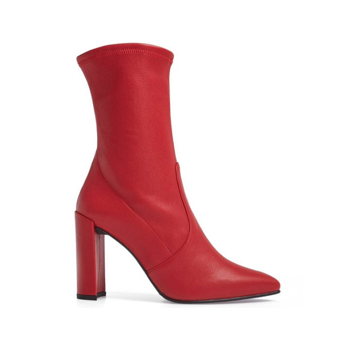 stuart-weitzman-red-clingy-stretch-bootie