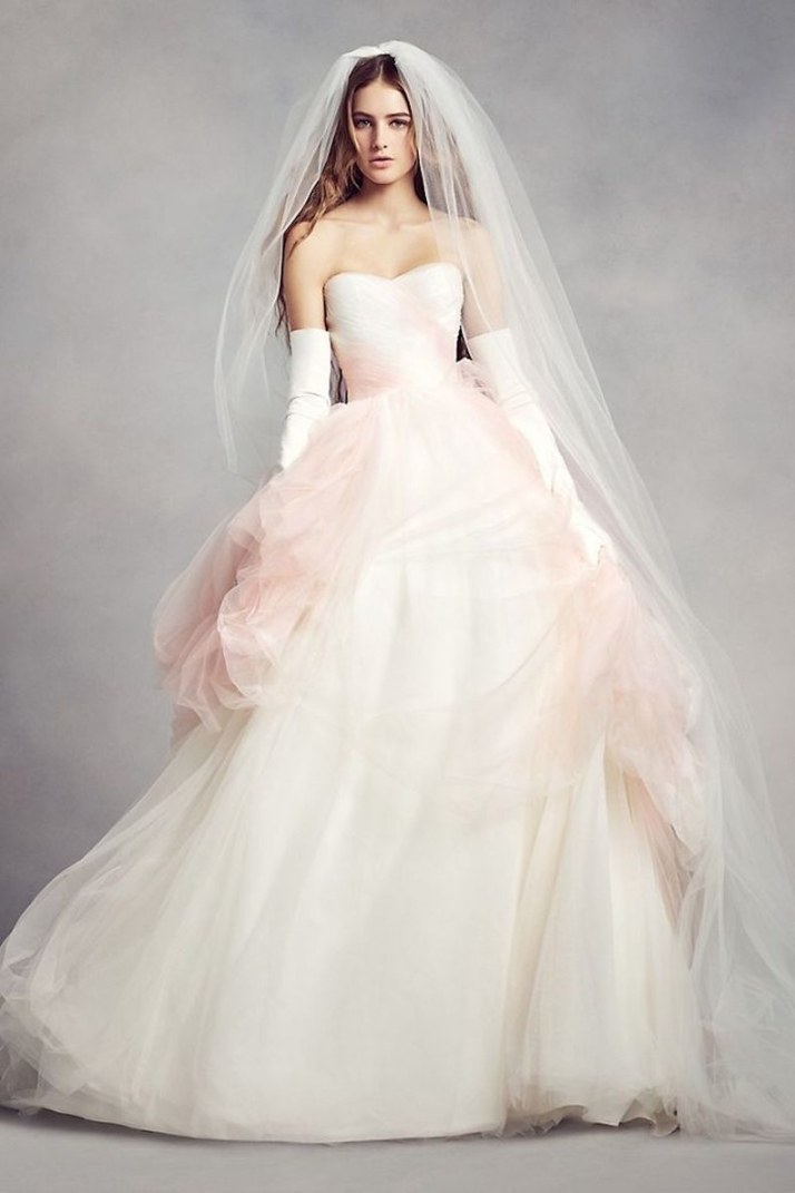 WhitebyVeraWangOmbreTulleWeddingDress,$1,398-$1,498