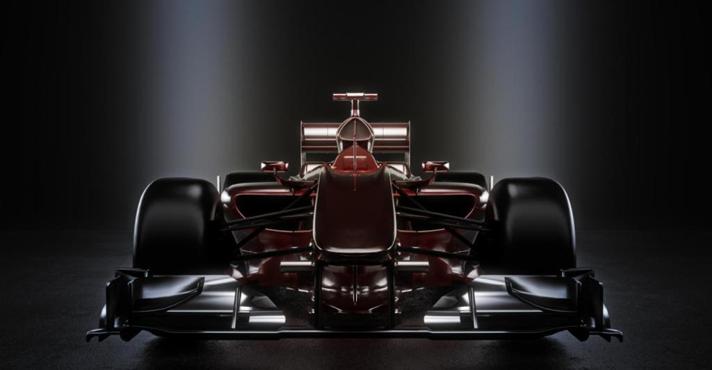 Carros de corrida são feitos com compósitos de matriz polimérica reforçada com fibras de carbono. A combinação entre matriz polimérica e reforço de fibra de carbono garante carros leves e resistentes.