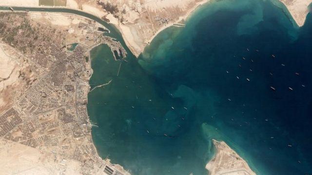 Canal de Suez - Embarcações