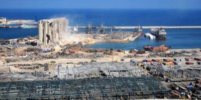 Explosão em porto que ocasionou acidente de trabalho.