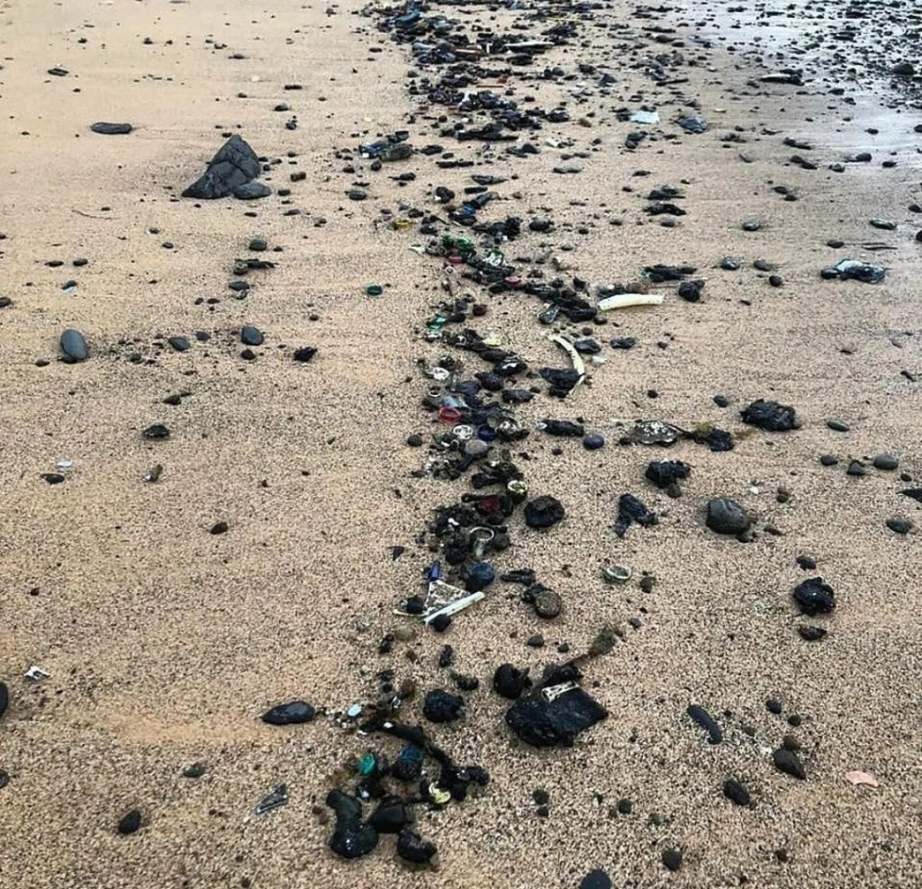 Óleo em praias de Fernando de Noronha