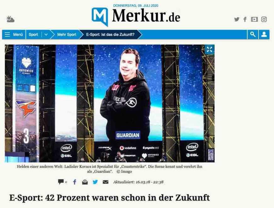 E-Sport: 42 Prozent waren schon in der Zukunft (Presse)