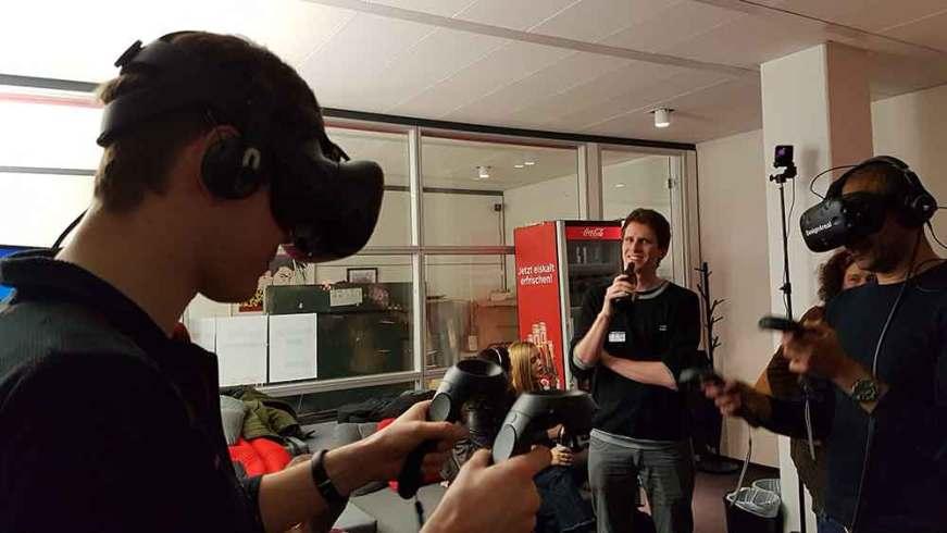 Multi-User VR with HTC Vive HMD's.