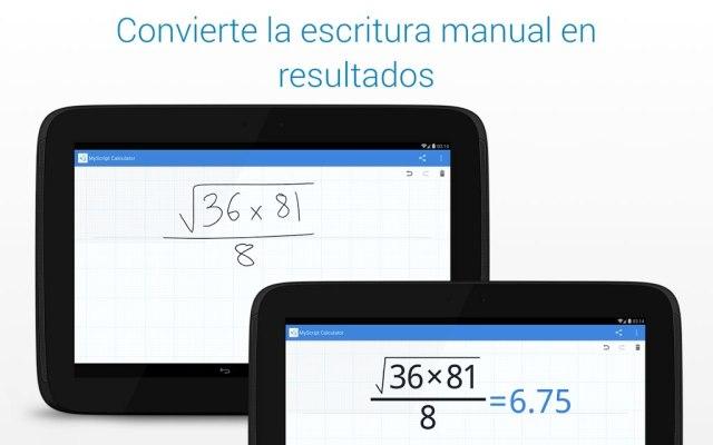 app calculadora grafica para android gratis myscript calculator