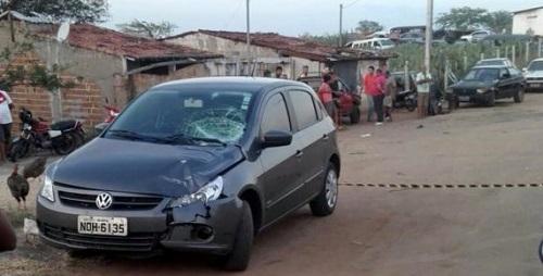 Veículo que atropelou e matou a criança(foto:blogTangaraense)