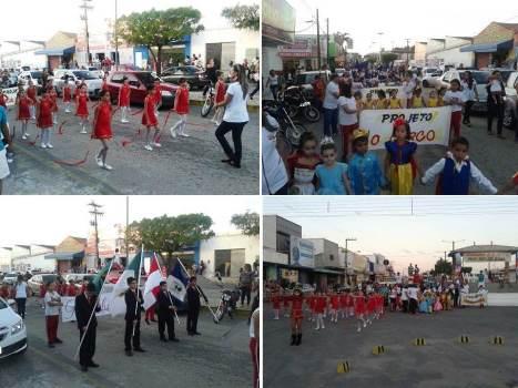 Desfile cívico em comemoração aos 20 anos de fundação do Colégio Educacional Professor Júnior Souza