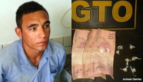 Júnior Bomba preso pelo GTO