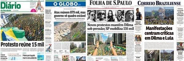 jornais - protestos