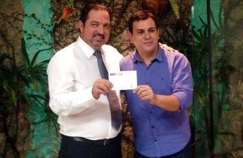 Advogado Luiz Gomes, presidente estadual do PEN no RN e o jornalista Nildo Rodrigues, novo filiado e pré-candidato a vereador em Natal