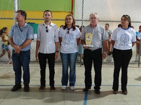 Solenidade de encerramento dos jogos internos da Escola Municipal Francisca Avelino