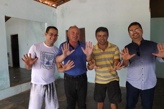 Diego, Abraão, Alcides e Wendel
