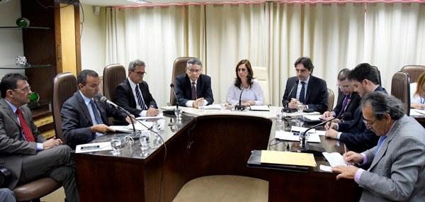 Reunião da Comissão de Constituição, Justiça e Redação (CCJ), na manhã desta terça-feira(foto: João Gilberto)