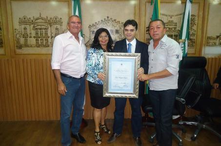 Vereadores de Bento Fernandes prestigiam  homenagem feita a Bira Marques pela Câmara Municipal do Natal