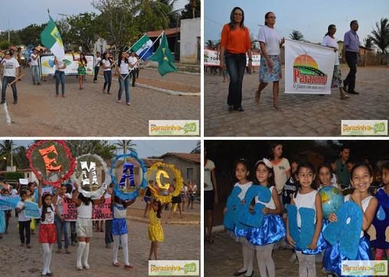 Imagens do Desfile Cívico alusivo ao 7 de setembro no distrito de Pereiros(fotos: Parazinho na Mídia)