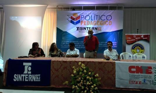 José Teixeira no Seminário Político Pedagógico que acontece em Pau dos Ferros