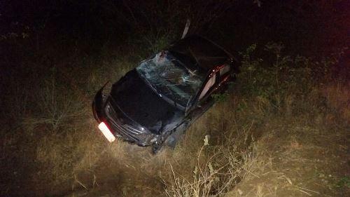 Veículo Corolla envolvido no acidente