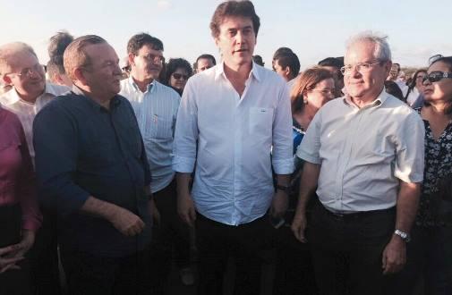 Jaime Calado(prefeito de São Gonçalo), Governador Robinson Faria e prefeito Louvado(Taipu)