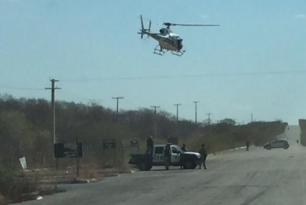 Operação conta com o apoio de helicoptero