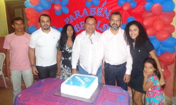 Rodolfo, Robenilson Junior, Edineide Pinheiro, Solon Junior, José Robenilson e Rebecca Letice