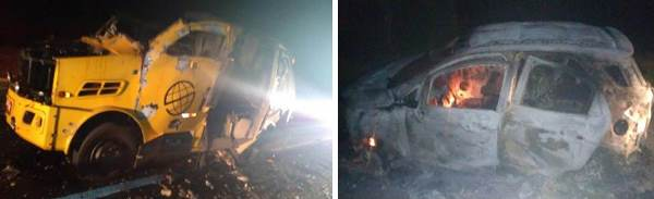 Bandidos explodem carro-forte e incendeiam veículo usado na fuga