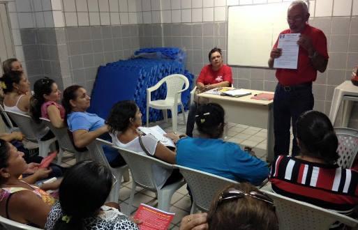 Assembleia dos funcionários da educação do município