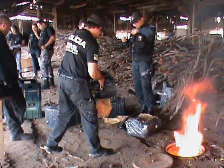 Droga é incinerada pela polícia civil