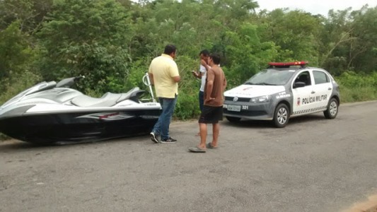 Jet Ski roubado é recuperado pela polícia em São José do Mipibu