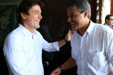 Governador Robinson Faria recebe  Beto Richa, governador do Paraná