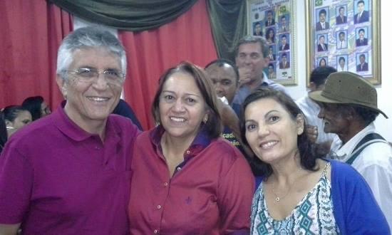 Vereador Aldo e a esposa Rosângela no aniversário da Senadora Fátima