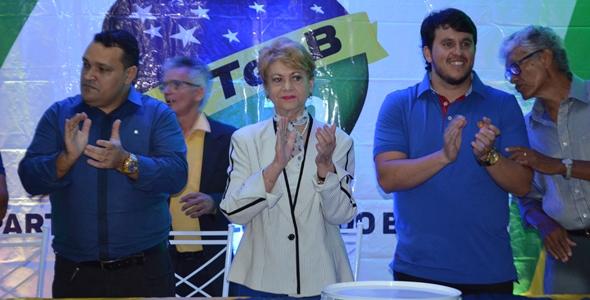Wilma em lançamento de pré-candidatura em Nova Cruz