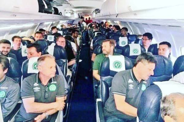 Time da Chapecoense no avião que caiu